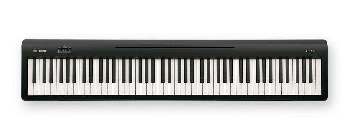 Piano Digital Roland FP10 - Preto