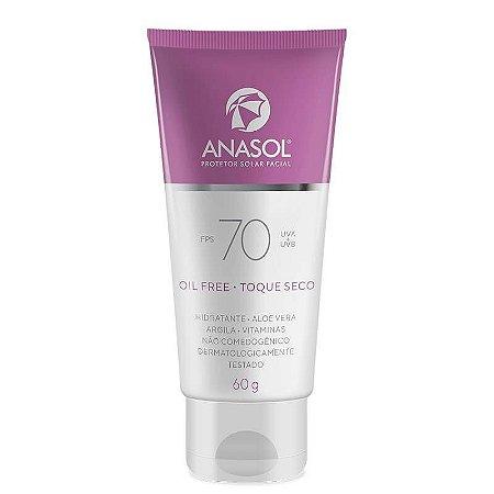 Protetor solar toque seco FPS70 - Anasol