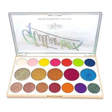 Paleta de sombras e glitter GlitterBox - MyLife