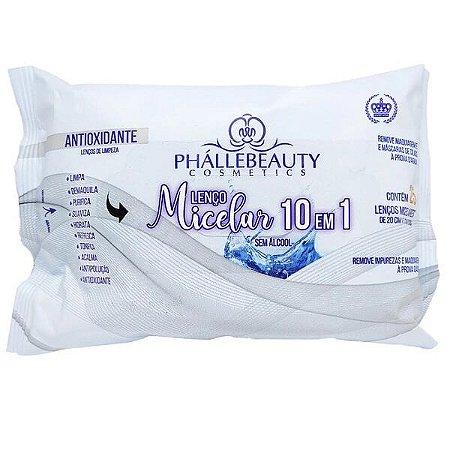 Lenço demaquilante Micelar 10 em 1 - Phallebeauty