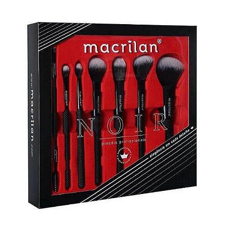 Kit de pincéis profissionais Noir - Macrilan