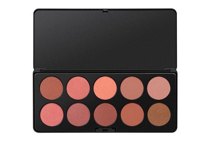 Paleta com 10 Blushes Nudes - BH Cosmetics