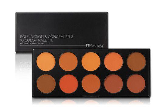 Paleta com 10 Bases e Corretivos - BH Cosmetics (Modelo 2)