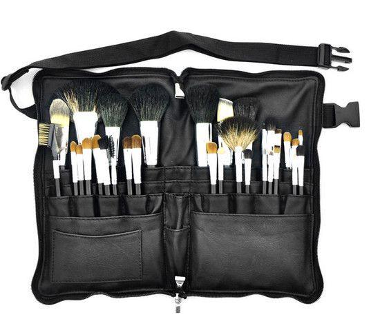 Kit 32 pincéis Profissionais Cerdas Naturais e Bag