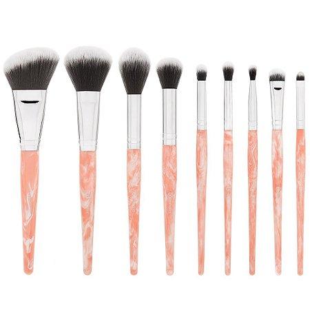 Kit 9 pincéis Face / Olhos - BH Cosmetics
