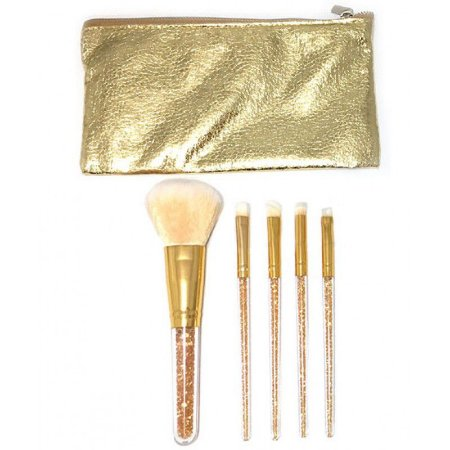 Kit 5 pincéis dourado - Miss Frandy