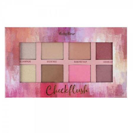 Paleta de Blush e Iluminadores Cheek Flush - Ruby Rose