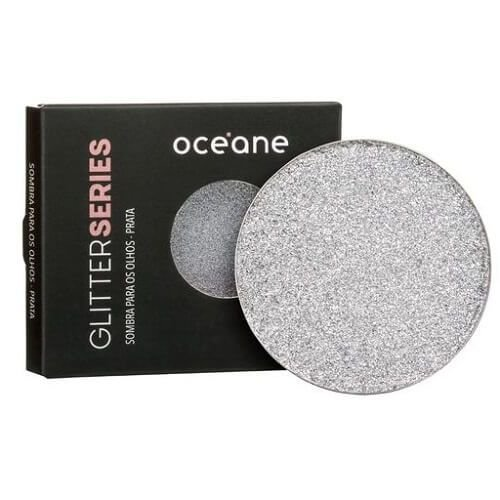 PROMO/ Glitter prensado Series cor PRATA - Oceane