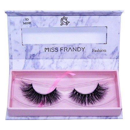 Cílios postiços efeito Mink 3D 6D 26 - Miss Frandy