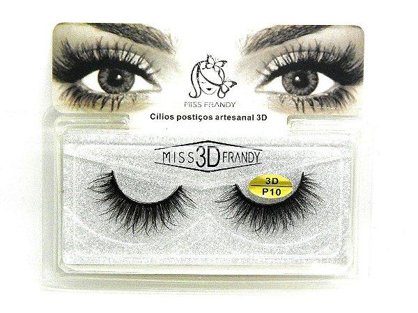 Caixa par de cílios postiços 3D P10 - Miss Frandy