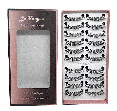 Caixa cílios postiços 10 pares #E3 - Le Vangee