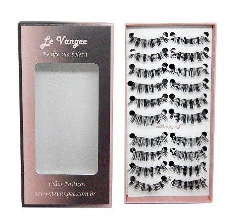 Caixa cílios postiços 10 pares #B164 - Le Vangee