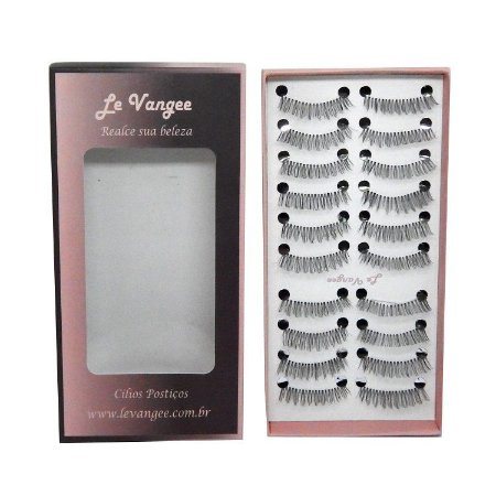 Caixa cílios postiços 10 pares #218 - Le Vangee