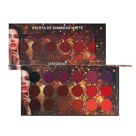 Paleta de sombras 18 cores Matte Redonda - Ludurana