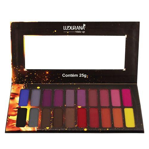 Paleta de sombras 20 cores Matte - Ludurana