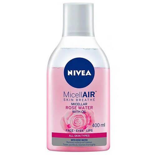 Água micelar bifásica com água de rosas - Nivea