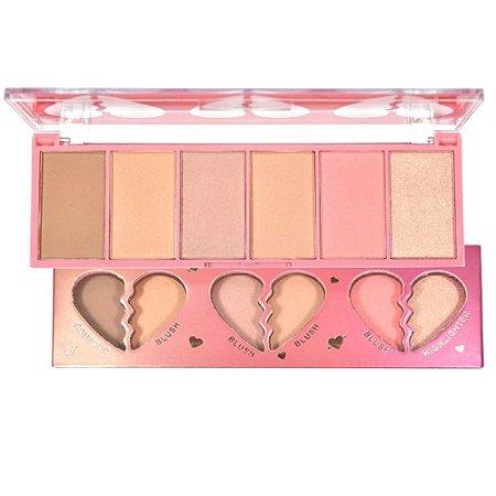 Paleta Face Kit Contorno Blush  Iluminador - Ruby Rose