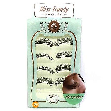 Caixa 5 pares cílios Postiços Modelo #008 - Miss Frandy