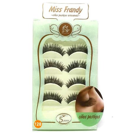 Caixa 5 pares cílios Postiços Modelo #128 - Miss Frandy