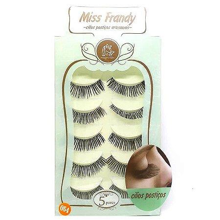 Caixa 5 pares cílios Postiços Modelo #054 - Miss Frandy