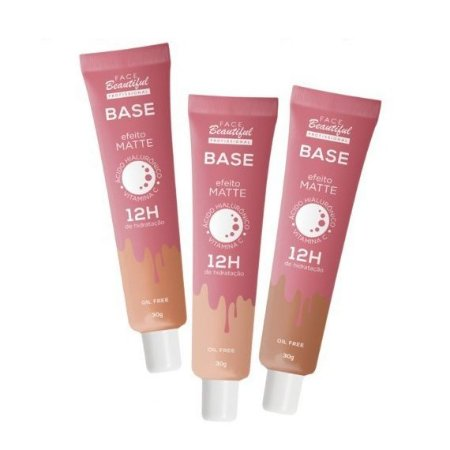 Base efeito matte 12h - Face Beautiful