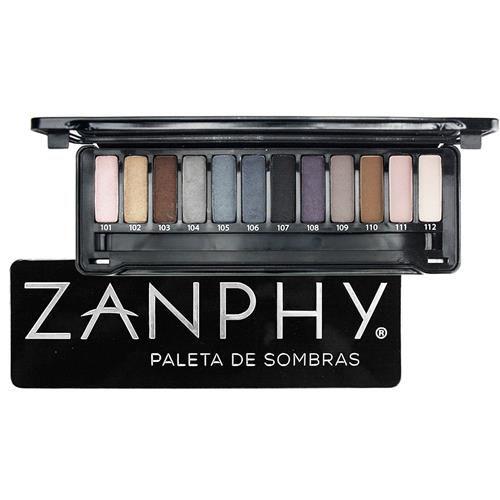 Paleta  de sombras Metallic Preta - Zanphy