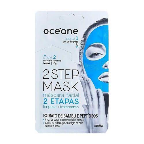 Máscara facial Extrato de Bambu e Peptídeos - Oceane