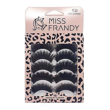 Caixa com 5 pares Variados de cílios postiços 5D 0616 - Miss Frandy