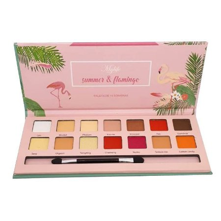 Paleta de sombras Summer & Flamingo cor 2 - Mylife