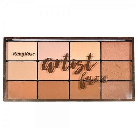 Paleta de pó facial e bronzeador Artist Face - Ruby Rose