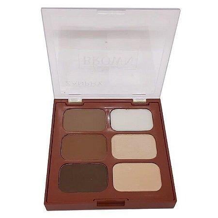 Paleta para sobrancelha Liner Brown 01 - Zanphy