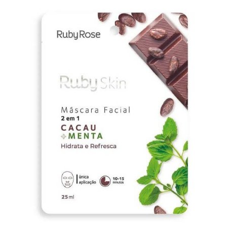 Máscara Facial Cacau + Menta - Ruby Rose
