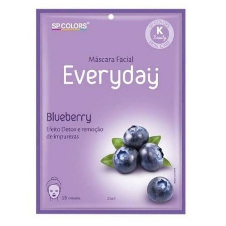 Máscara facial Everyday Blueberry - SP Colors