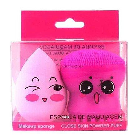 Kit de Esponjas para Maquiagem e Limpeza