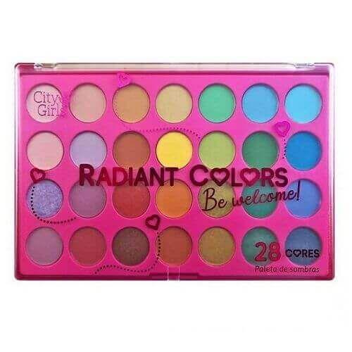 Paleta com 28 cores de Sombras Radiant Colors - City Girls