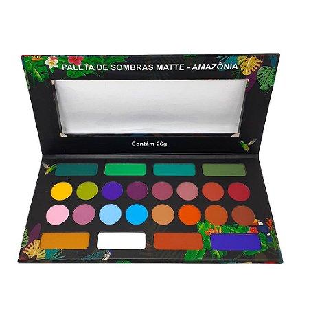 Paleta de sombras matte Amazônia - Ludurana