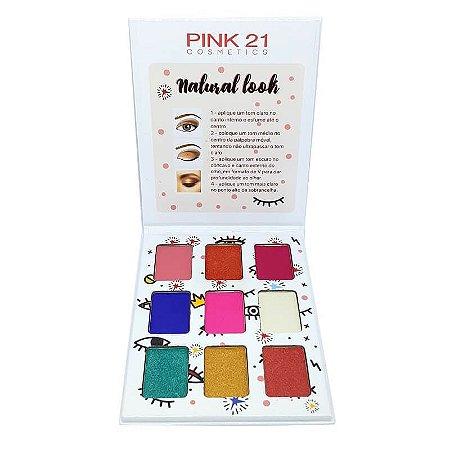 Paleta de sombras Natural Look 2 - Pink 21