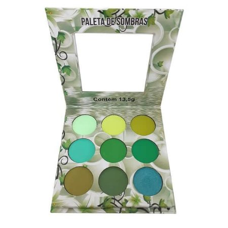 Paleta de sombras Nuances Verde - Ludurana