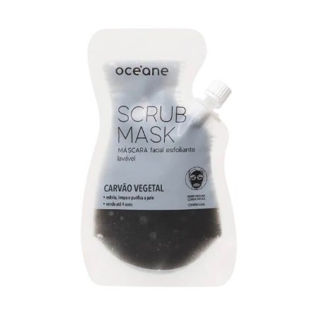 Máscara facial esfoliante Carvão Vegetal - Océane