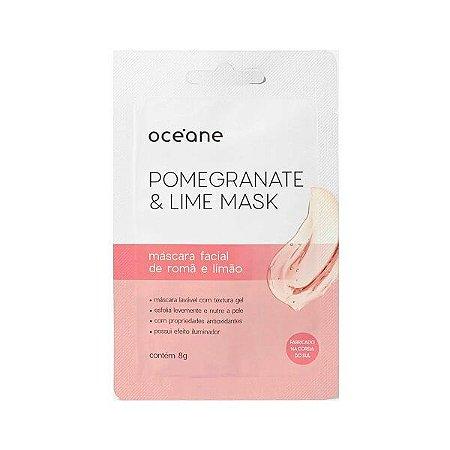 Máscara facial de romã e limão - Oceane
