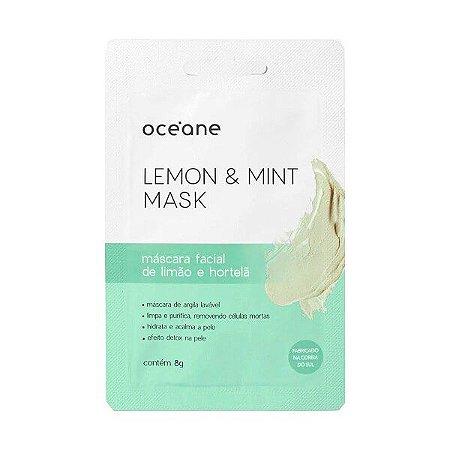 Máscara facial de limão e hortelã - Oceane