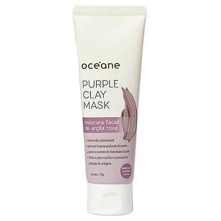 Máscara facial de argila roxa - Oceane