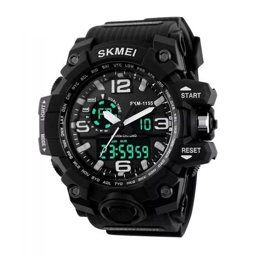 Relógio Masculino AntiShock Skmei 1155 Digital Preto