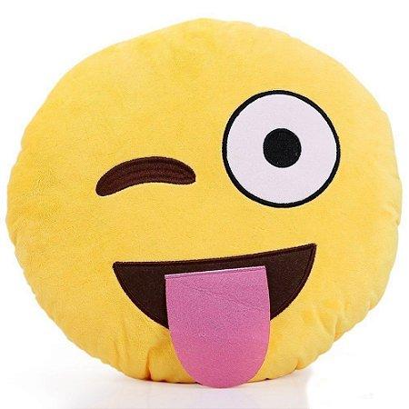 Almofada Emoticon Emoji Oficial Antialérgica Linguão 33cm