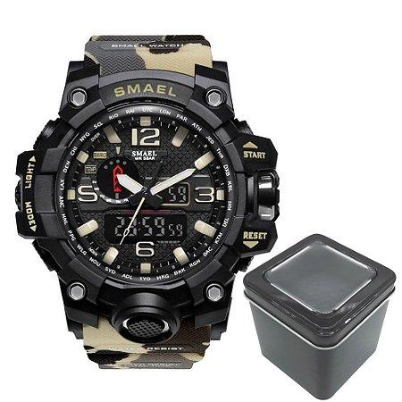 Relógio Masculino Militar Camuflado Exercito Delta Smael 1545