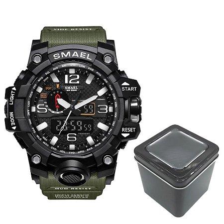 Relógio Masculino Verde Smael Militar Prova D'água