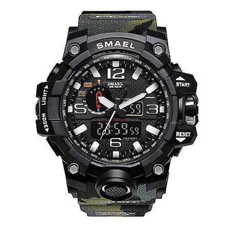 Relógio Masculino Militar G-Shock Camuflado Exercito Selva Smael 1545