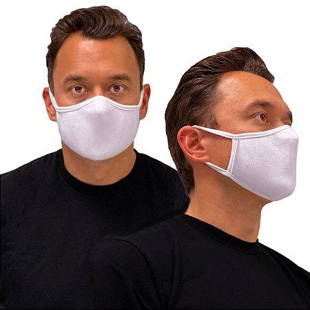 20 Máscara de Tecido Algodão Dupla Camada Anatômica Facial Lavável Reutilizável eMask Branca