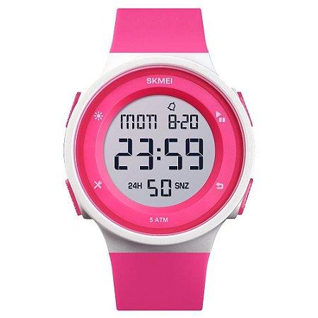 Relógio Sport Skmei Digital 1445 Prova D'água Cronômetro Rosa