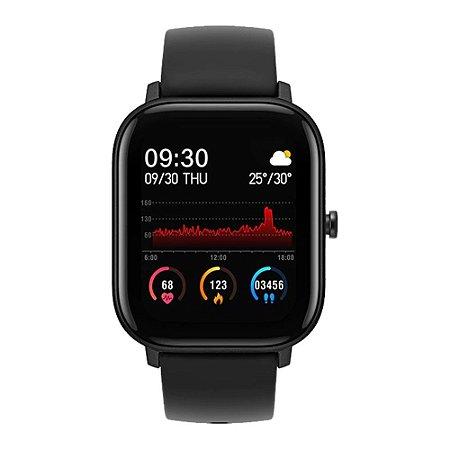 Smartwatch P8 Oxímetro Whatsapp Passos Calorias Batimentos Android e iOS Preto